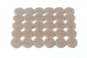 Neuf-Bande-de-30-Rond-Feutre-Coussinets-Adhesif-13MM-Diametre-4MM-Epais-2