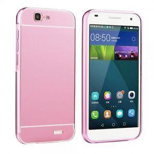 Pare-chocs-en-aluminium-2-elements-avec-protection-rose-pour-Huawei-Ascend-G7