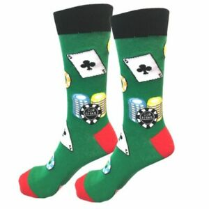 Mens-Funny-Bright-Cool-High-Roller-Happy-Funky-Crew-Socks