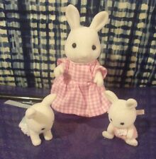 3 Epoch Calico Critters Sylvanian Family Animal Figures Bunny Rabbit Baby 1985