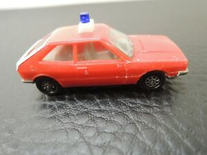 HERPA-VW-SCIROCCO-GTI-police-plastic-car-Made-in-W-Germany-HO-scale