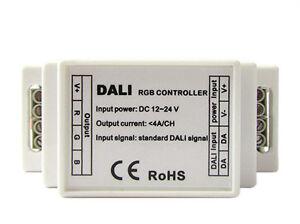 DALI-RGB-Led-Controlador-Ecu-3-Canales-DC12V-24V-3X4A-Ataque-Guia-Carril