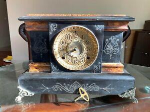 ANTIQUE-1880-SETH-THOMAS-Mantle-Clock-For-Parts