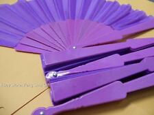 5x LOT PURPLE Bridal Bride Shower Wedding Party Favor Fabric Hand Summer Fan #PU