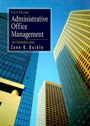 Administrative Office Management Hardcover Zane K. Quible