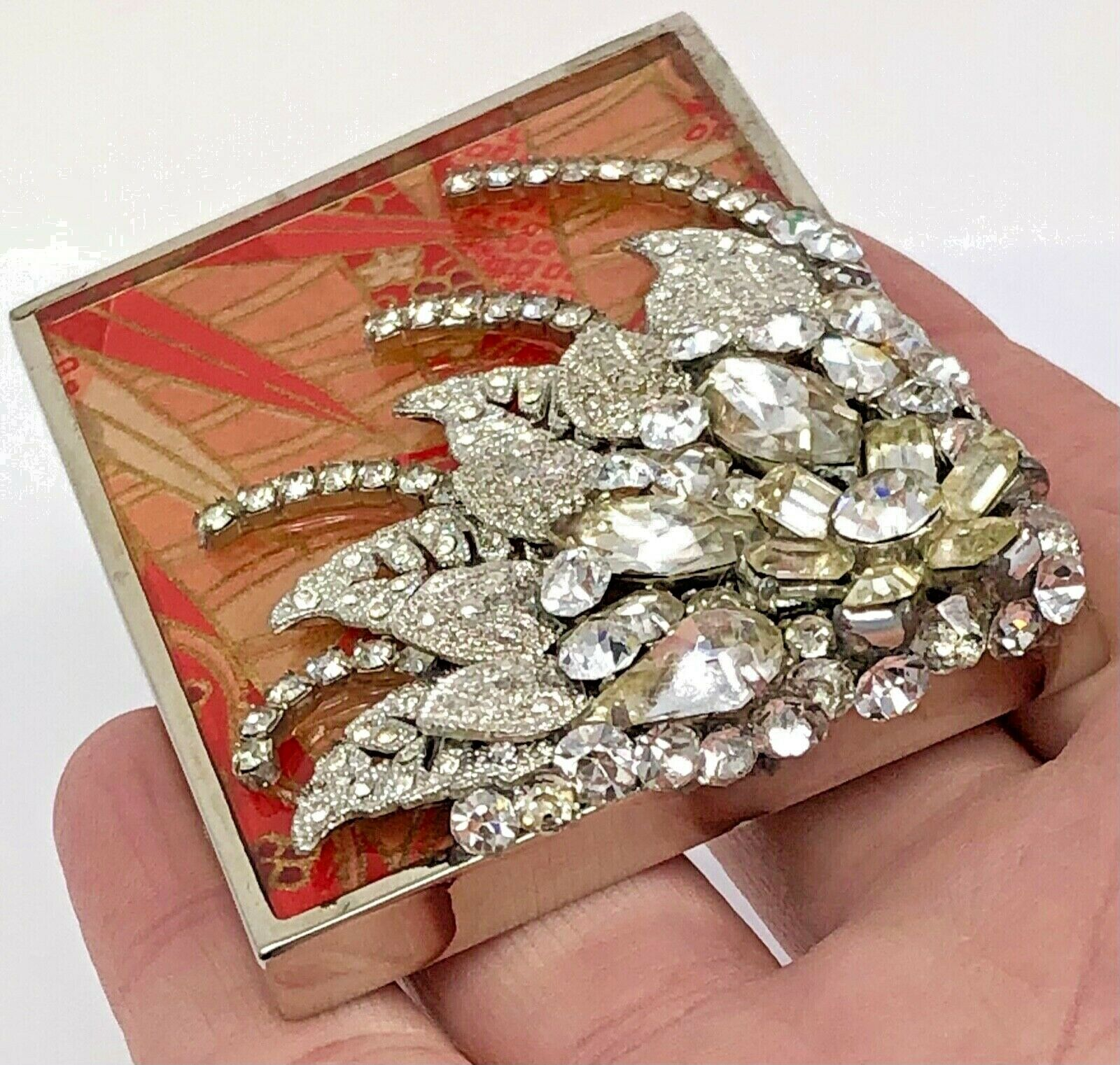 """""""Blooming Flower"""" Collage Belt Buckle with Vintage Jewelry Bits Buckle #27"""