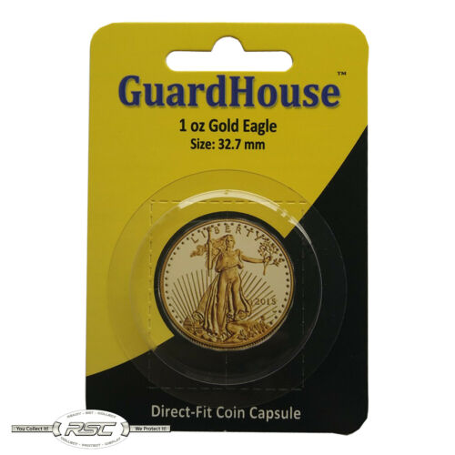 1 Guardhouse Large Direct-Fit Coin Capsule for 1-Oz American Gold Eagle