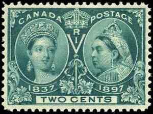 Canada-52-mint-VF-OG-NH-1897-Queen-Victoria-2c-green-Diamond-Jubilee-CV-150-00