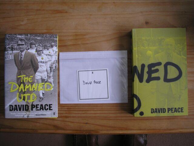 DAVID PEACE - THE DAMNED UNITED  1st/1st  PB/DJ  2006  SIGNED
