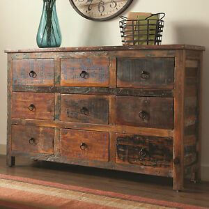 NEW RUSTICA RECLAIMED WEATHERED FINISH WOOD STORAGE