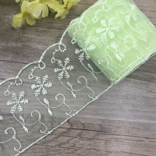 Border Lace Trims Embroidered Tulle Ribbon Fabric Decoration DIY Sewing Crafts