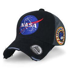 2b3acfadef4c2 ililily NASA Meatball Logo Embroidery Baseball Cap Apollo 1 Patch Trucker  Hat