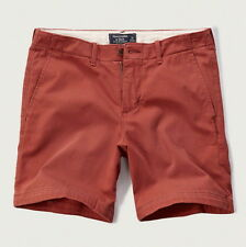 NWT Abercrombie & Fitch Mens Size 34 Red Preppy Fit Casual Shorts