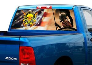 Molon LABE US USA FLAG Rear Window Decal Sticker Pickup Truck SUV - Back window decals for cars