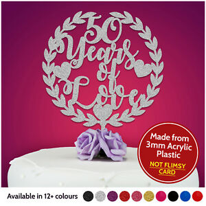 ANY-ANNIVERSARY-Personalised-Wedding-Anniversary-Cake-Topper-Party-Decorations