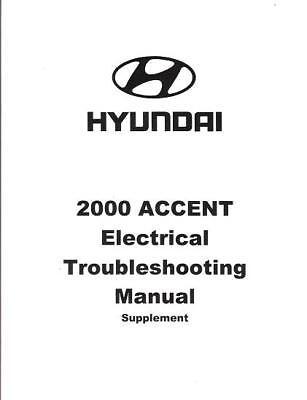 2000 Hyundai Accent OEM Electrical Wiring Diagrams ...
