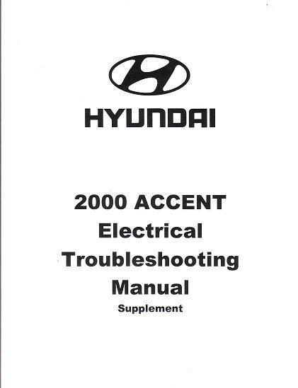 2000 Hyundai Accent Oem Electrical Wiring Diagrams Schematics Manual Book Ea027a