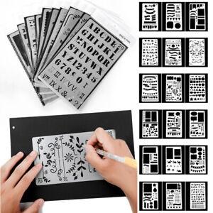 20x Plastique JOURNAL Pochoir Dessin modèle pour bricolage Planner Diary Scrapbook Hot