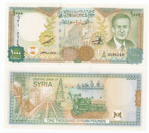 Gem UNC Syria P-111b 1997 1000 Pounds