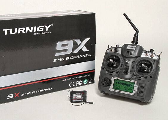 NEW! Turnigy 9X 9Ch Transmitter w/ Module & 8ch Receiver  (Mode 2) (v2 Firmware)