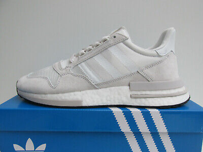 Nuovo Con Scatola Adidas Zx 500 Rm Mai Fatto Pack Uk 8 Rrp £ 119 Nuvola Bianca Boost- Limpid In Sight