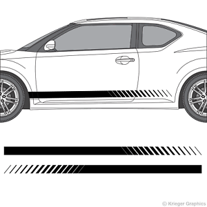 Scion tC Decal Graphics Set Of Racing Side Stripes With Scion TC Logo 2