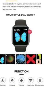 Smart Watch für iPhone IOS Android Phone Bluetooth Wasserdicht Fitness Tracker