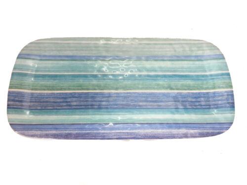 """Tarhong Blue Stripes Appetizer Platter 8.25/"""" x 17/"""""""