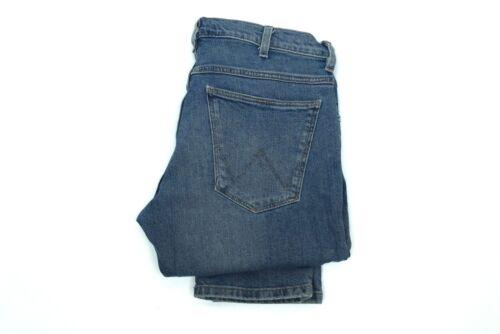 Mens Ex Wrangler Larston Stretch Slim Fit Tapered Jeans Blue SECONDS WA137