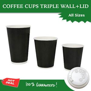 Image Is Loading Disposable Coffee Cups 8oz 12oz 16oz Bulk Takeaway