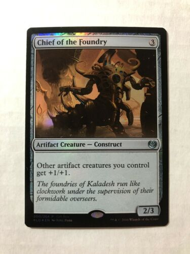 1x WOTC Gift Boxes and Promos Chief of the Foundry NM//SP Foil