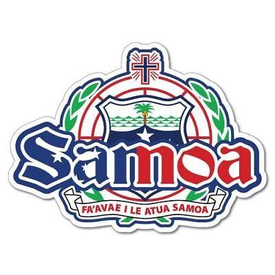 Samoan Coat of Arms Sticker Decal Vinyl Samoa flag WSM WS
