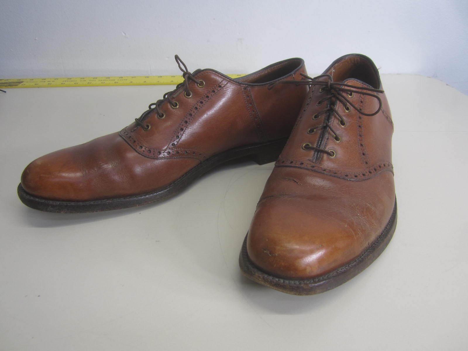 prezzo all'ingrosso e qualità affidabile Vtg Alden scarpe scarpe scarpe Marrone Leather Oxford plain toe sz 12 A  migliore marca