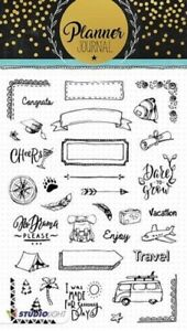 Studio-Light-A5-Clear-Cling-Stamps-Planner-Journal-STAMPPJ07