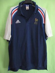 Détails sur Polo Adidas Equipe de France 90'S maillot vintage Coton Jersey 4 L