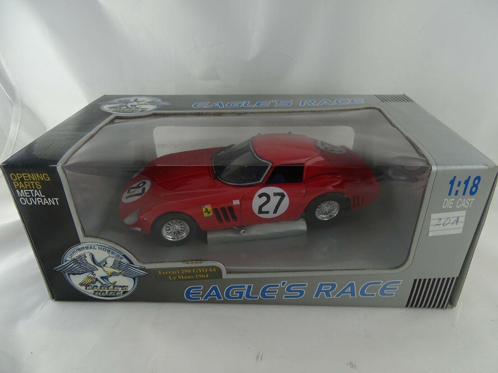 1 18 Eagle Race Ferrari 250 GTO 64 Le Mans 1964  27 rot