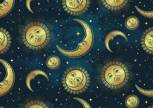 A1-Stary-Celestial-Moon-amp-Sun-Poster-Size-60-x-90cm-Kids-Poster-Gift-16760