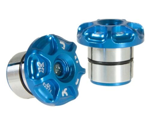 Blue Plugs KCNC Mountain MTB Bike Adjustable 18 ~ 25mm Handlebar Bar End