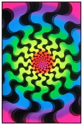 Blacklight Amazing Colors NEW Never Hung 23x35 Trippy Swirl amazing colors
