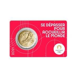 vvk 2 Euro x 5  Frankreich 2021 Olympische Spiele 2024 in Paris CoinCard