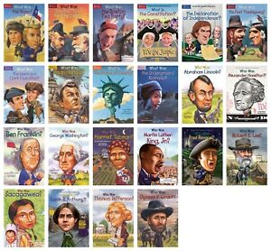 NEW-Who-What-Was-Set-of-22-Paperback-Biographies-Book-American-History-HQ-Kids