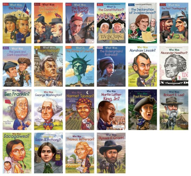 NEW Who What Was Set of 22 Paperback Biographies Book American History HQ Kids