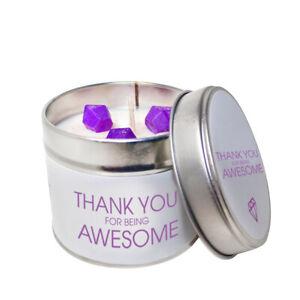 Merci Pour être Génial De Soja Candle Tin/choisissez Votre Parfum-afficher Le Titre D'origine