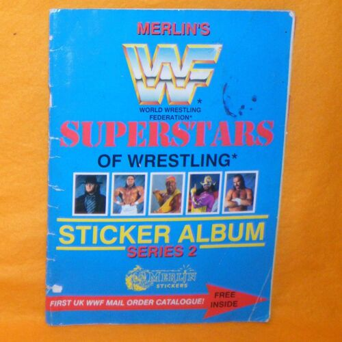 VINTAGE MERLIN'S WWF SUPERSTARS OF WRESTLING STICKER ALBUM SERIES 2 COMPLETE