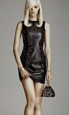 VERSACE FOR H&M LEATHER STUDDED DRESS ANNA DELLA RUSSO
