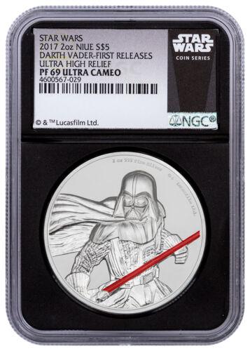 Darth Vader UHR 2 oz Silver 2017 Niue Star Wars NGC PF69 UC FR Black SKU49469