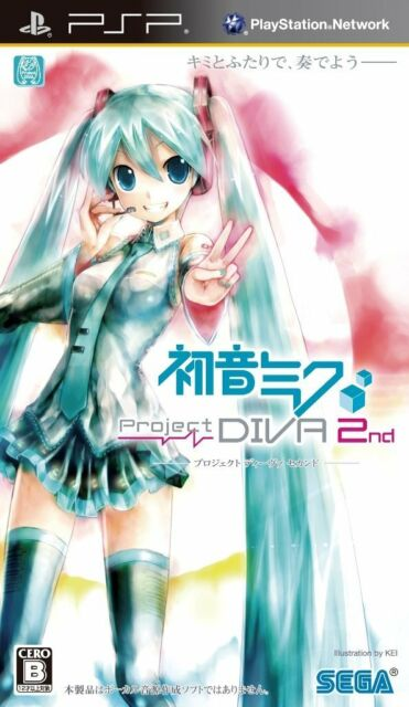 Used PSP  PROJECT DIVA 2nd Hatsune Miku  SONY PLAYSTATION JAPAN IMPORT
