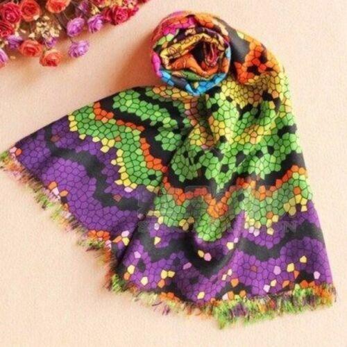 scialle e grande Sciarpa di misto cashmere 70x220cm seta in formato Muti color annTgd