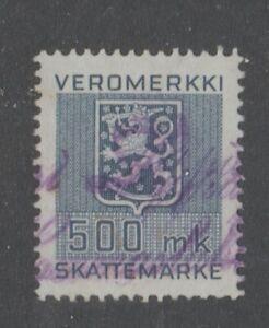 Finland-Revenue-Fiscal-Cinderella-Stamp-7-24-better-train-500mk
