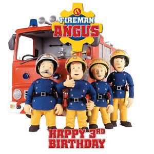 Prime Fireman Sam Personalised Edible Real Icing Image Birthday Cake Funny Birthday Cards Online Alyptdamsfinfo